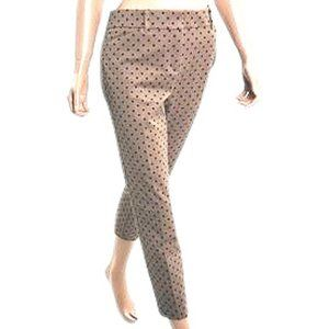 """The Audrey Ankle Pant"" Tan Polka-Dot"